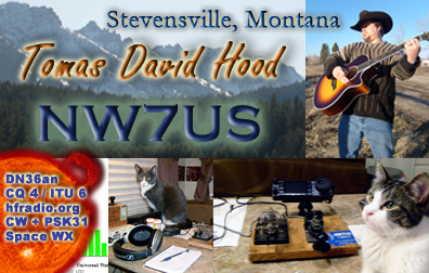 Tomas Hood - NW7US - QSL Card