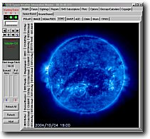 Space Weather Information Monitor Software - sample screen shot