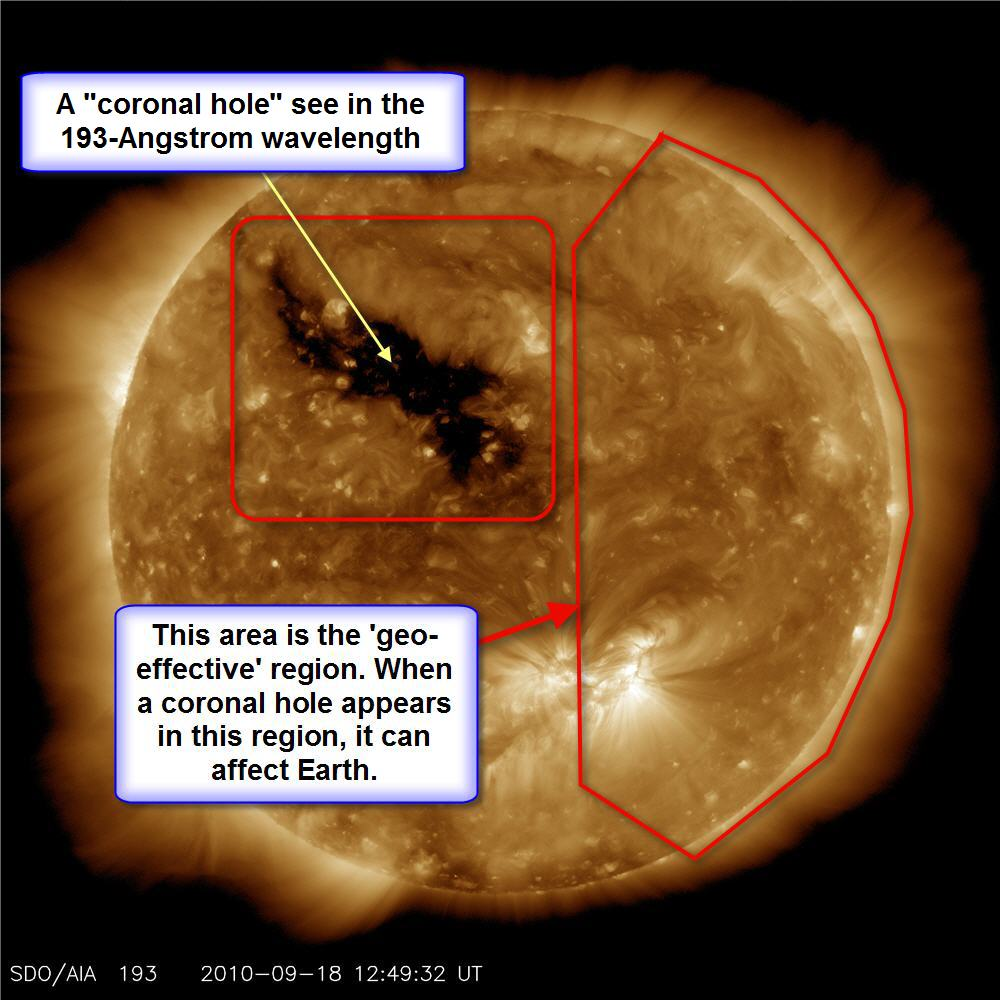A Coronal Hole as see on 2010-09-18 at 1249 UTC by SDO/AIA