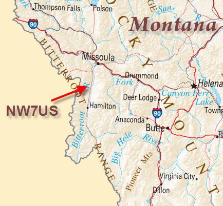 Bitterroot, Montana (Stevensville) Map - Tomas Hood's Location
