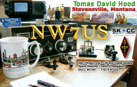 NW7US QSL card - eQSL, etc.