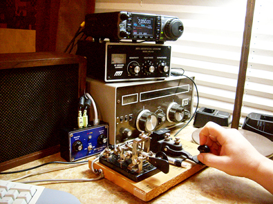 The Main NW7US Trailer Radio Shack Operating Position
